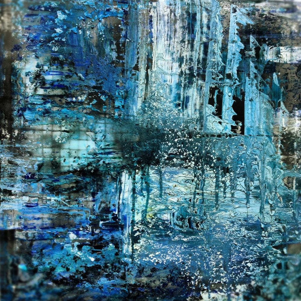 'Tranquility' - Oils, acrylic and aerosolon canvas - 100cm x 100cm