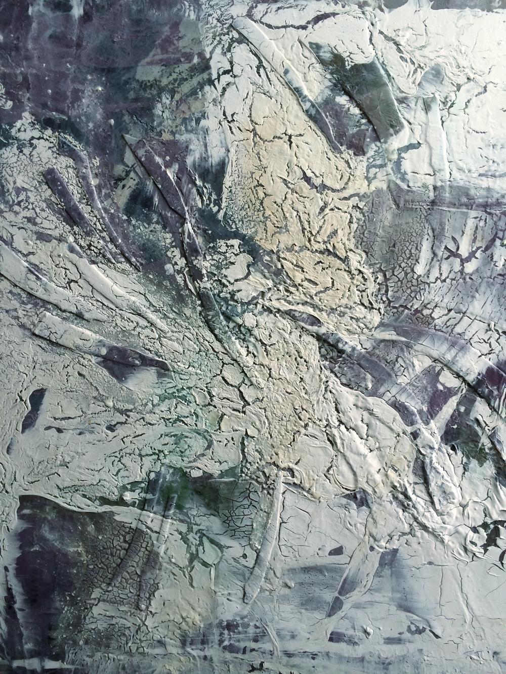 'Shard' - Mixed media on canvas - 100cm x 120cm