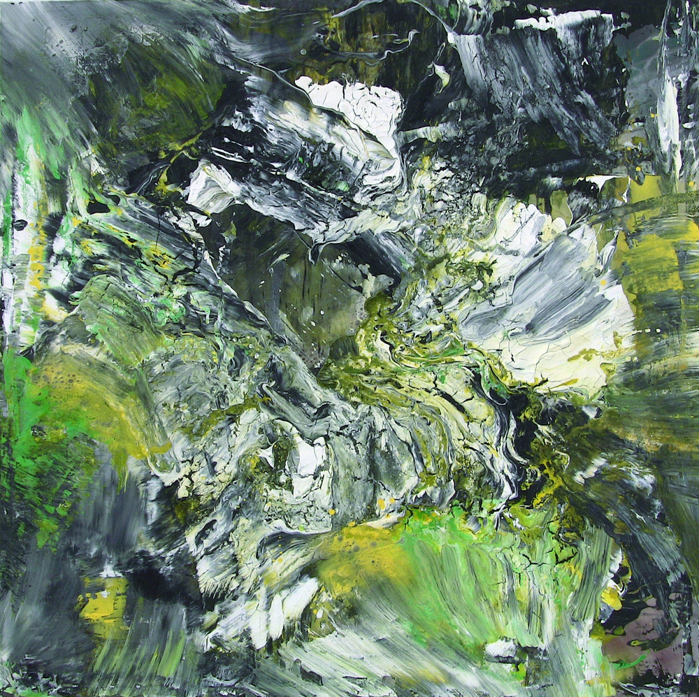 'Natural chaos' - Oil and acrylic on canvas - 100cm x 100cm