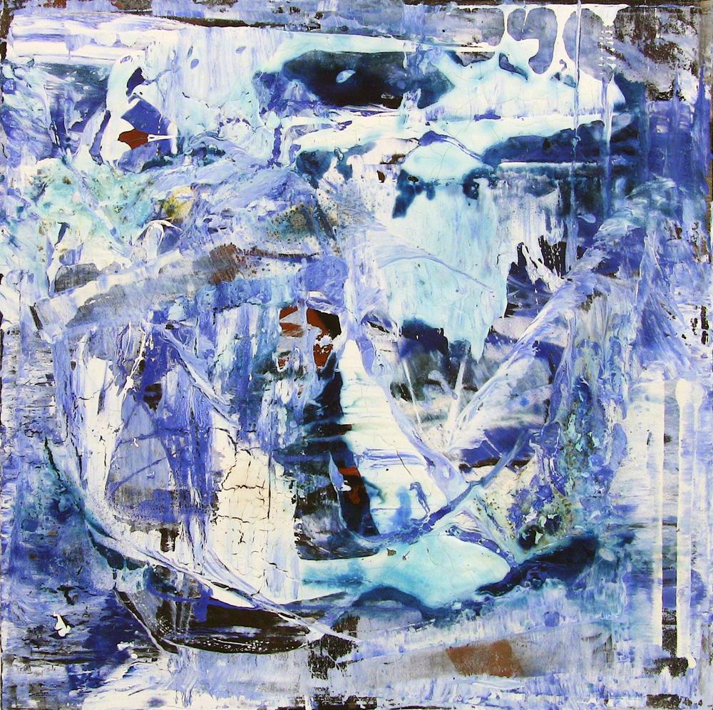 'Ocean' - Oil and acrylic on canvas - 100cm x 100cm