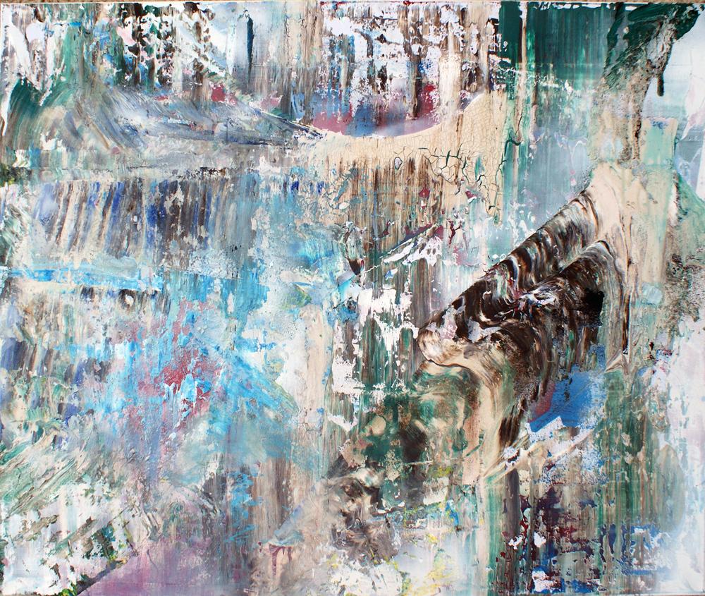"""""""Archaic Horizon"""" - Aerosol and acyrlic on canvas - 101.5cm x 107cm"""