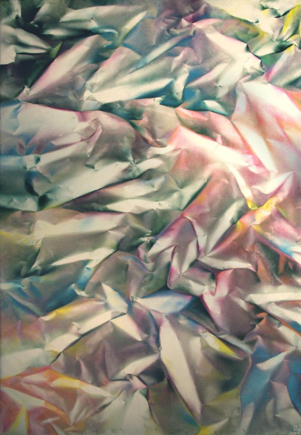 """"""" Terra abstract N°1 """"- Aerosol on canvas - 130cm x 88cm"""