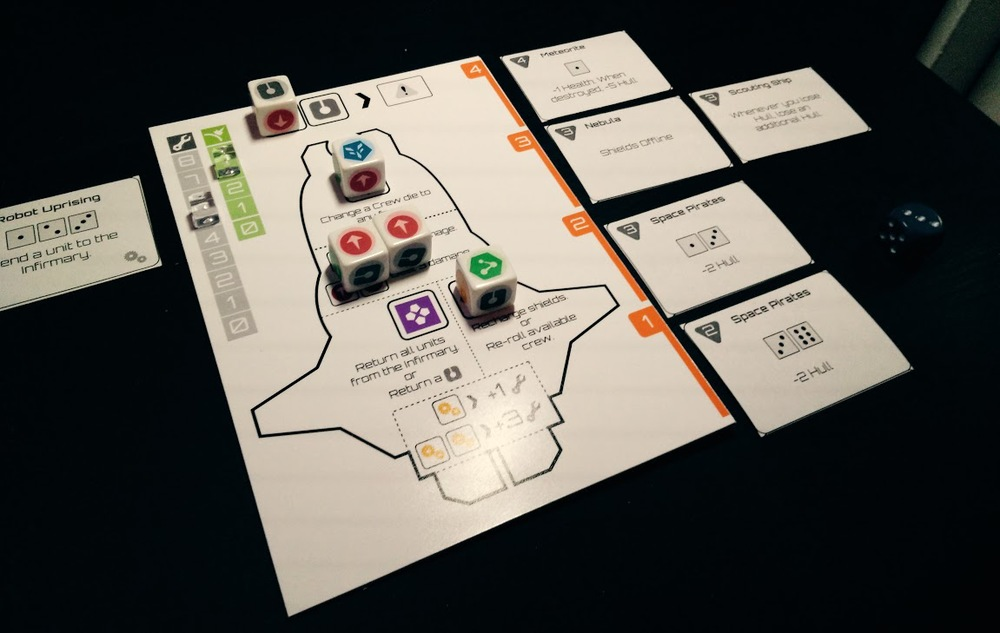 A prototype copy of  Deep Space D-6  a game designed in 24 hours.