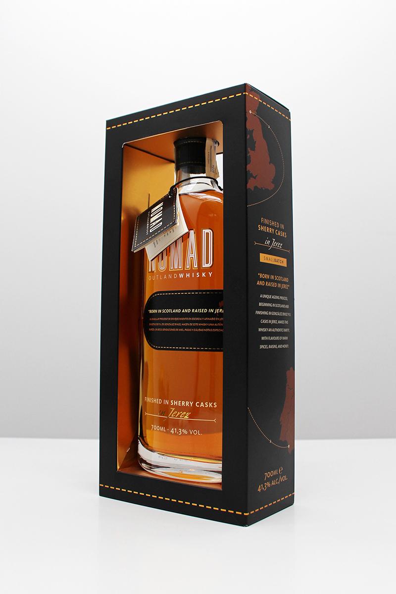 El pack Whisky Nomad, nominado en la categoría de Bebidas.