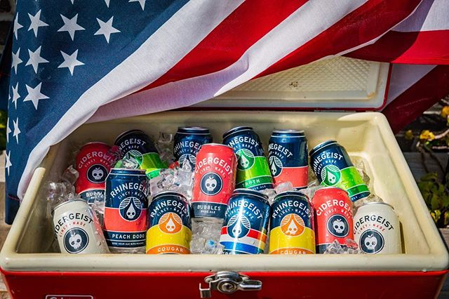 Happy 4th of July!⠀ The brewery and taproom will be closed today. Have fun and be safe!⠀ #cincymade #thisisrhinegeist