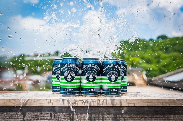 Puma's back!⠀ Our Pilsner — first brewed back in 2014 — is all about balance, prowling around poolside palates with a steady attack of bready malts and noble hops.⠀ Puma will start hitting shelves and taps this week! 5.2% | 40 IBU⠀ #pumapils #cincymade #splishsplash #upontheroof