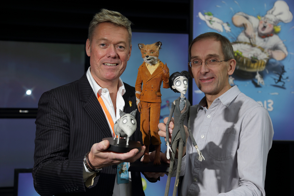 Dynamic FX partnership Ian Mackinnon and ManiFF2015 jury member Peter Saunders (Right).