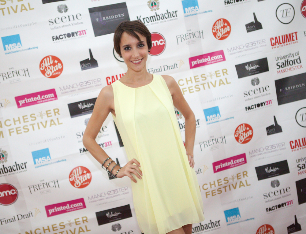 The Imago's beautiful Manuela Parodi graces ManIFF's red carpet at the world premiere of the avant Garde Italian film.
