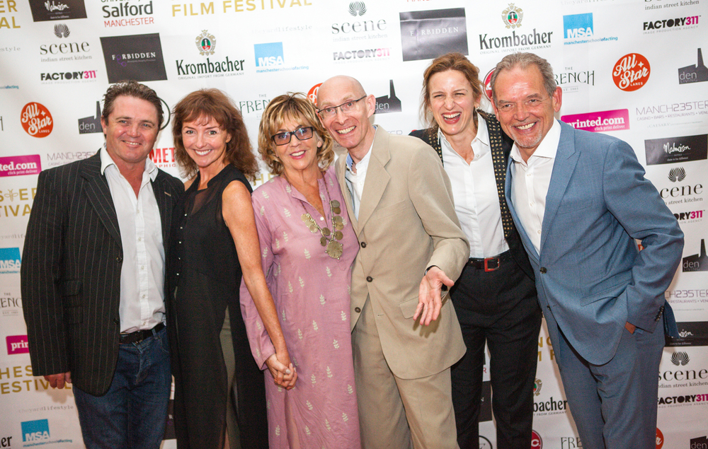 The cast of 'Caring for the Recently Deceased ahead of the world premiere.