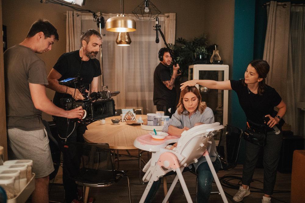 AC Luka Likar, DP Maks Susnik, boom op. Matej Loredan, Ana Urbanc (Valentina) and HMU Mojca Marincek