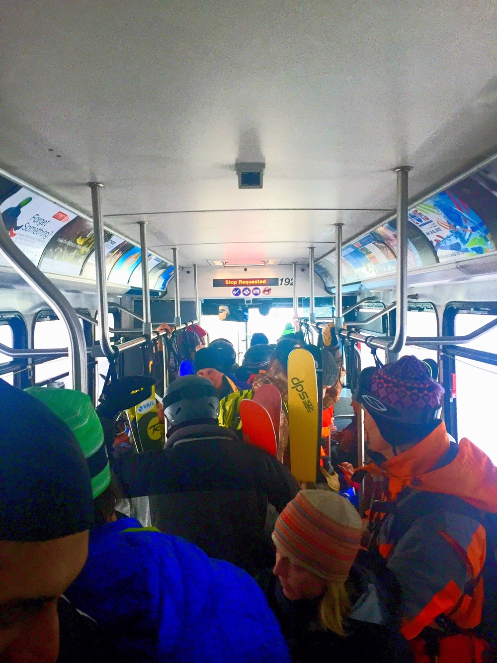 Crowded Vail Bus