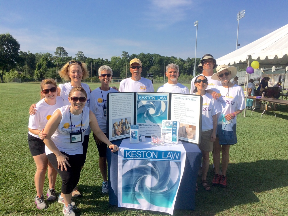 Team Keston Law at the Wilmington alznc 5k