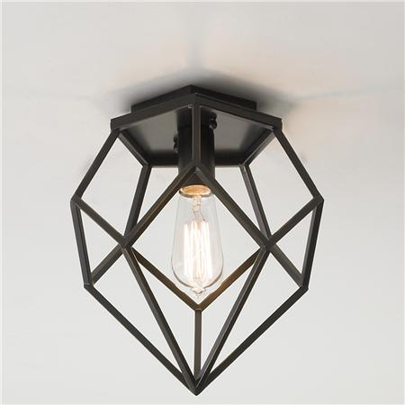 Diamond ceiling light