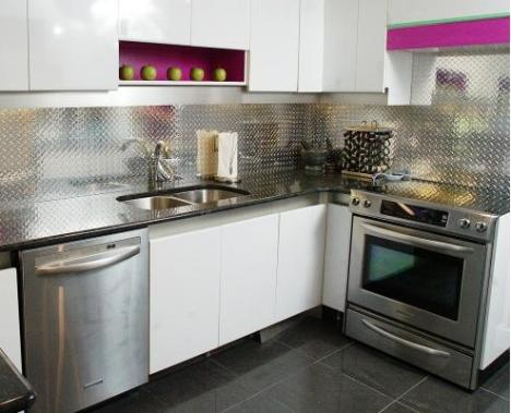 Steel backsplash