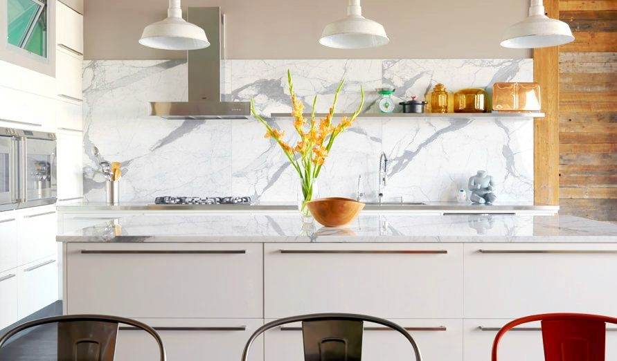 White Kitchen Marble Backsplash Marble Backsplash Kitchen