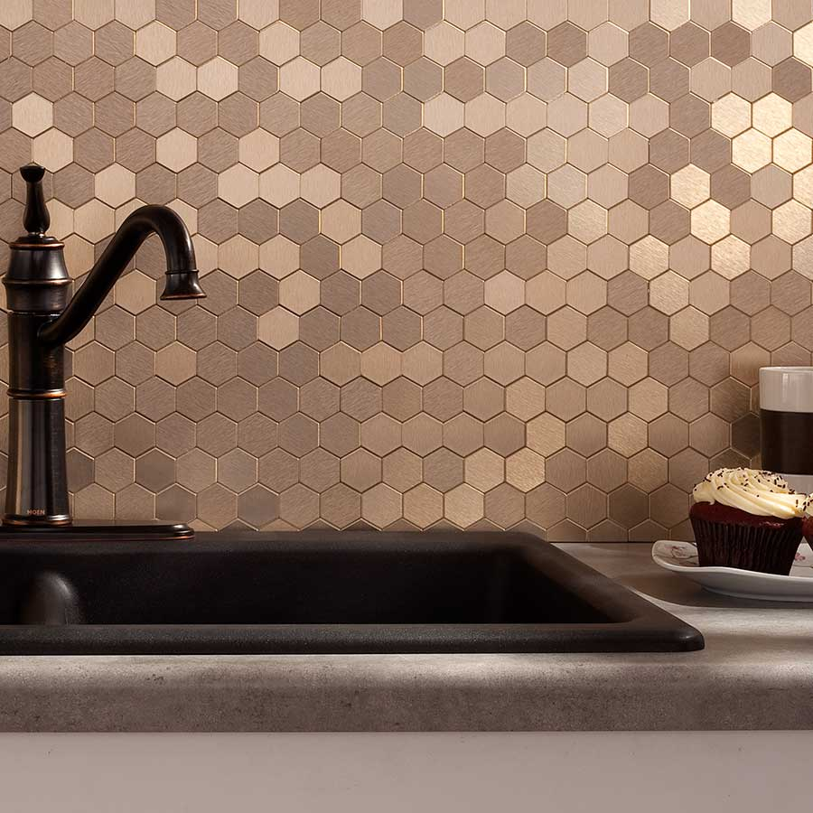 Champagne Backsplash