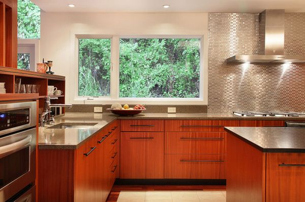 Metallic Backsplash