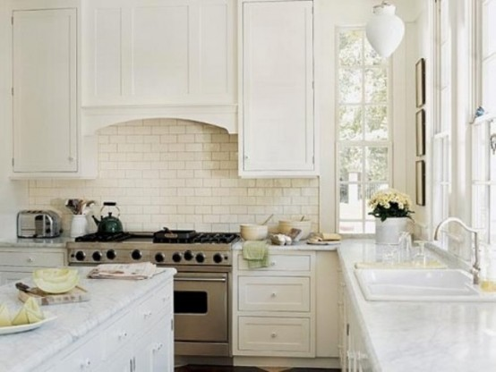 white quartz and carrara marble
