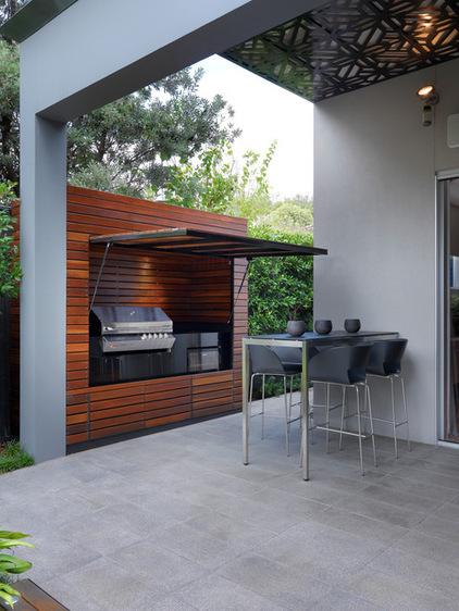modern grilling station