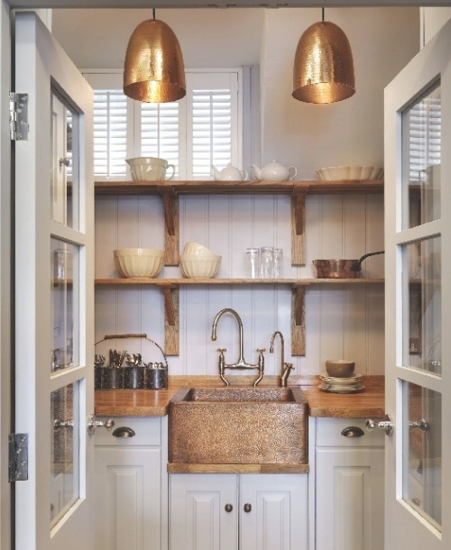 transitional butlers pantry