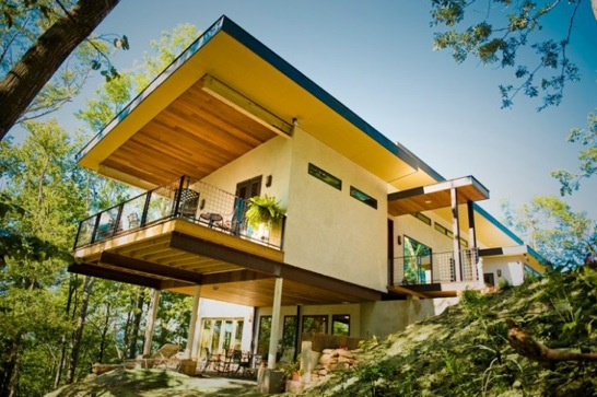 A 3,400 square foot hempcrete home located in Asheville, North Carolina - the first built in the United States.