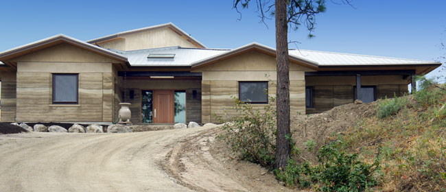 Rammed Earth home in Summerland, British Columbia.