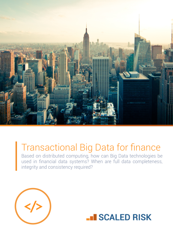 TECHNICAL PAPER: Transactional Big Data for Finance