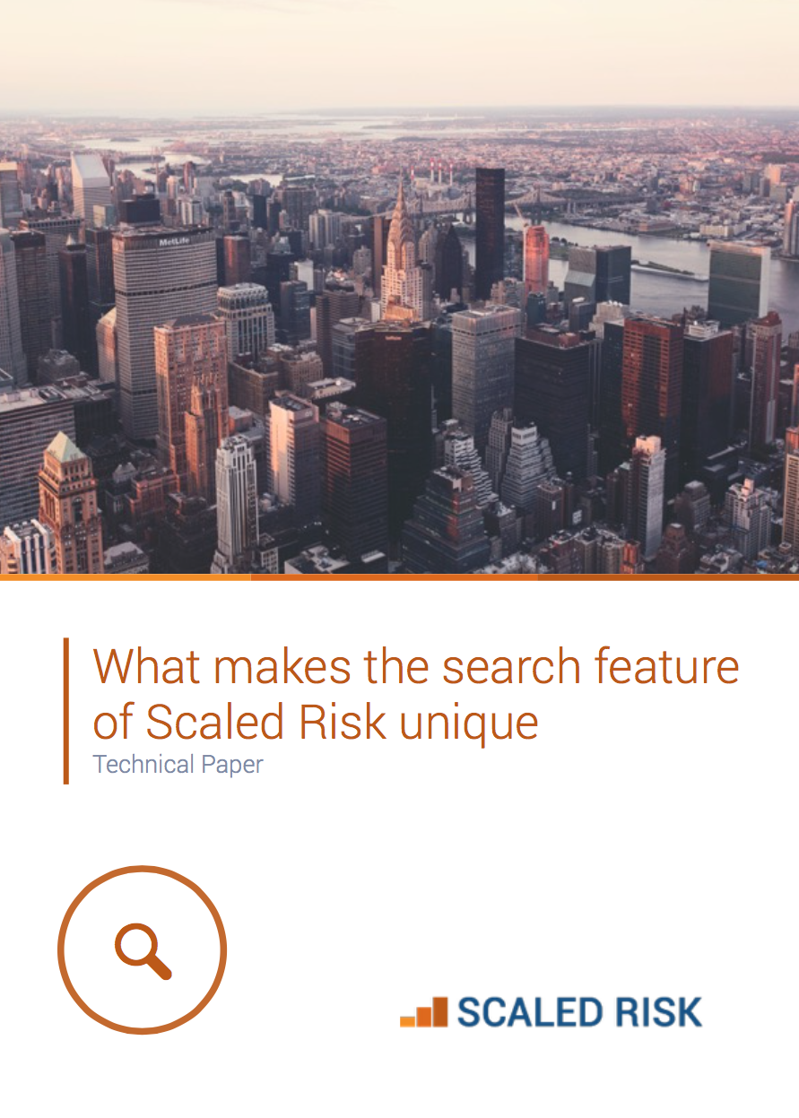 TECHNICAL PAPER: What makes the search feature of Scaled Risk unique