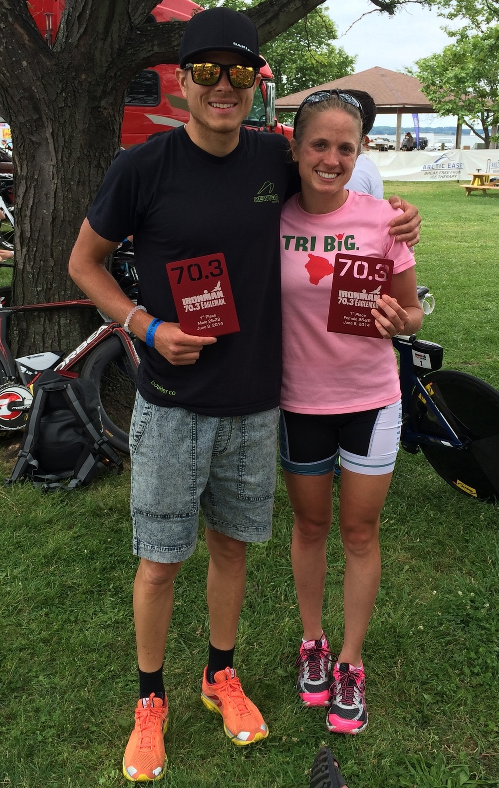 First in Age Group, Second Overall Amateurs, Breakaway Racing Teammates going to Kona!