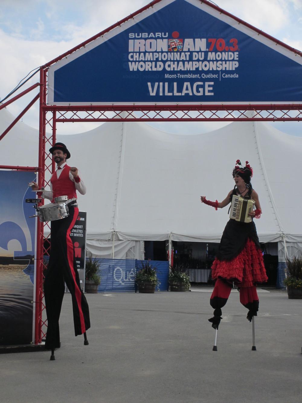 Carnival scene in the athlete village.