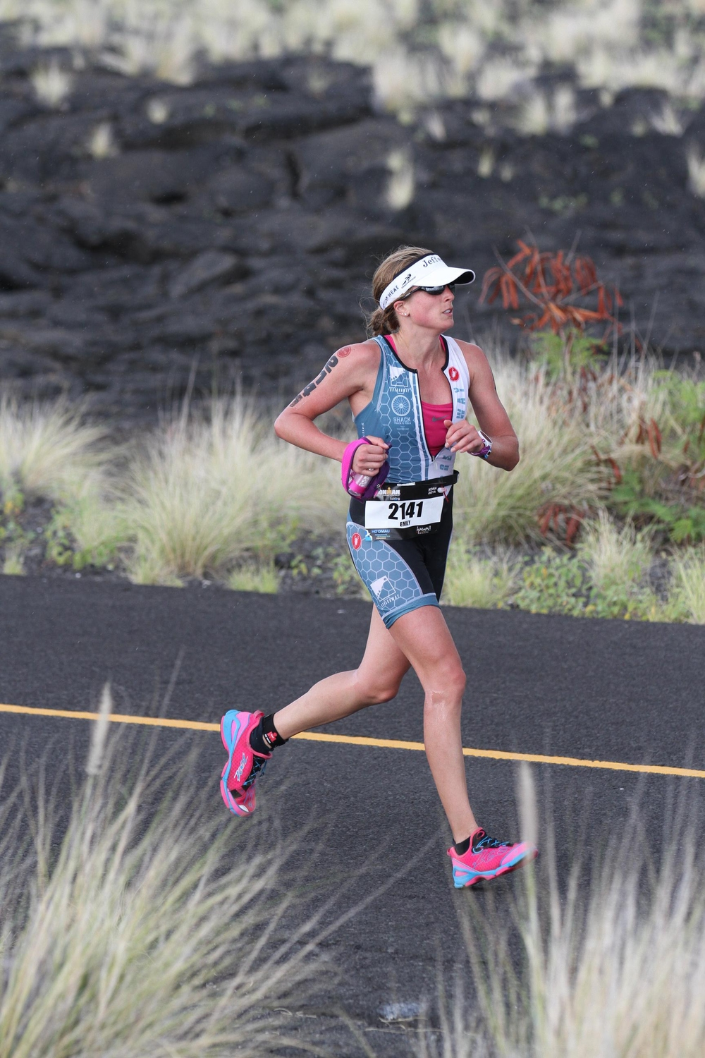 Running through the Lava Fields