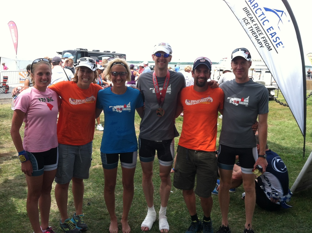 Some of the victorious Breakaway Racing Team at Eagleman 70.3