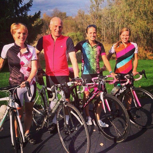 Family bonding bike ride.