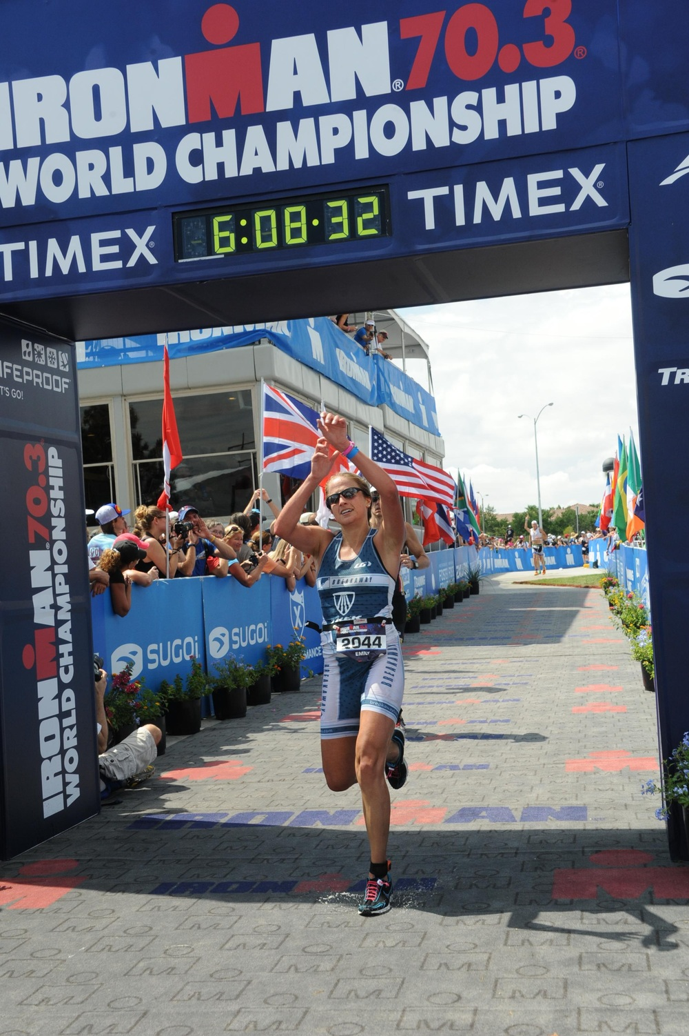 Finish Line at the 70.3 World Championships.
