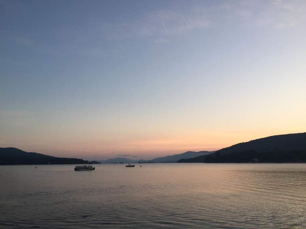 Sunrise over Lake George from Million Dollar Beach
