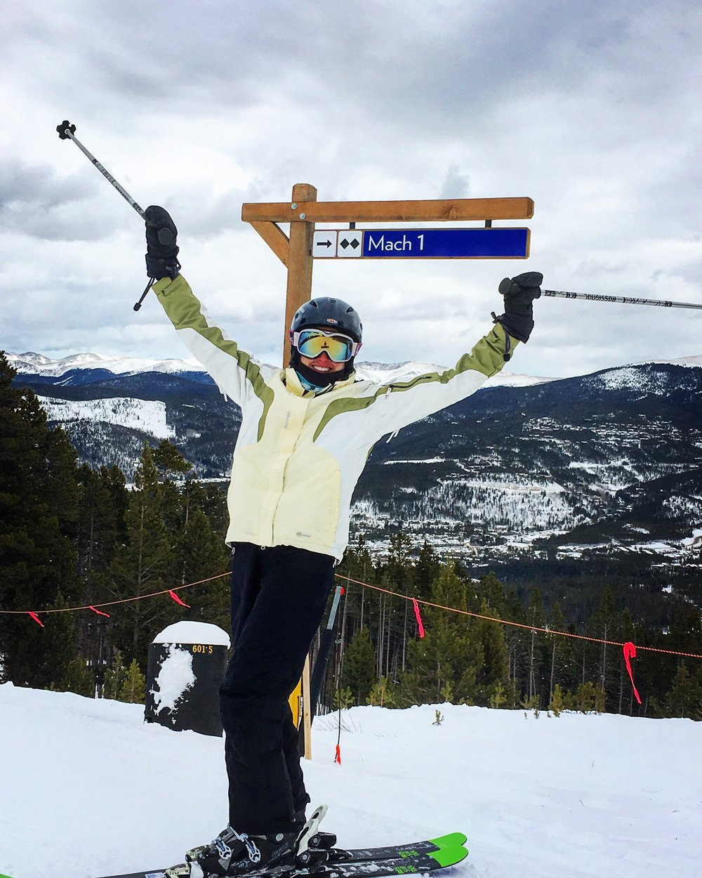 Shredding on some Double Black Diamonds in Breckenridge while on the interview trail in CO