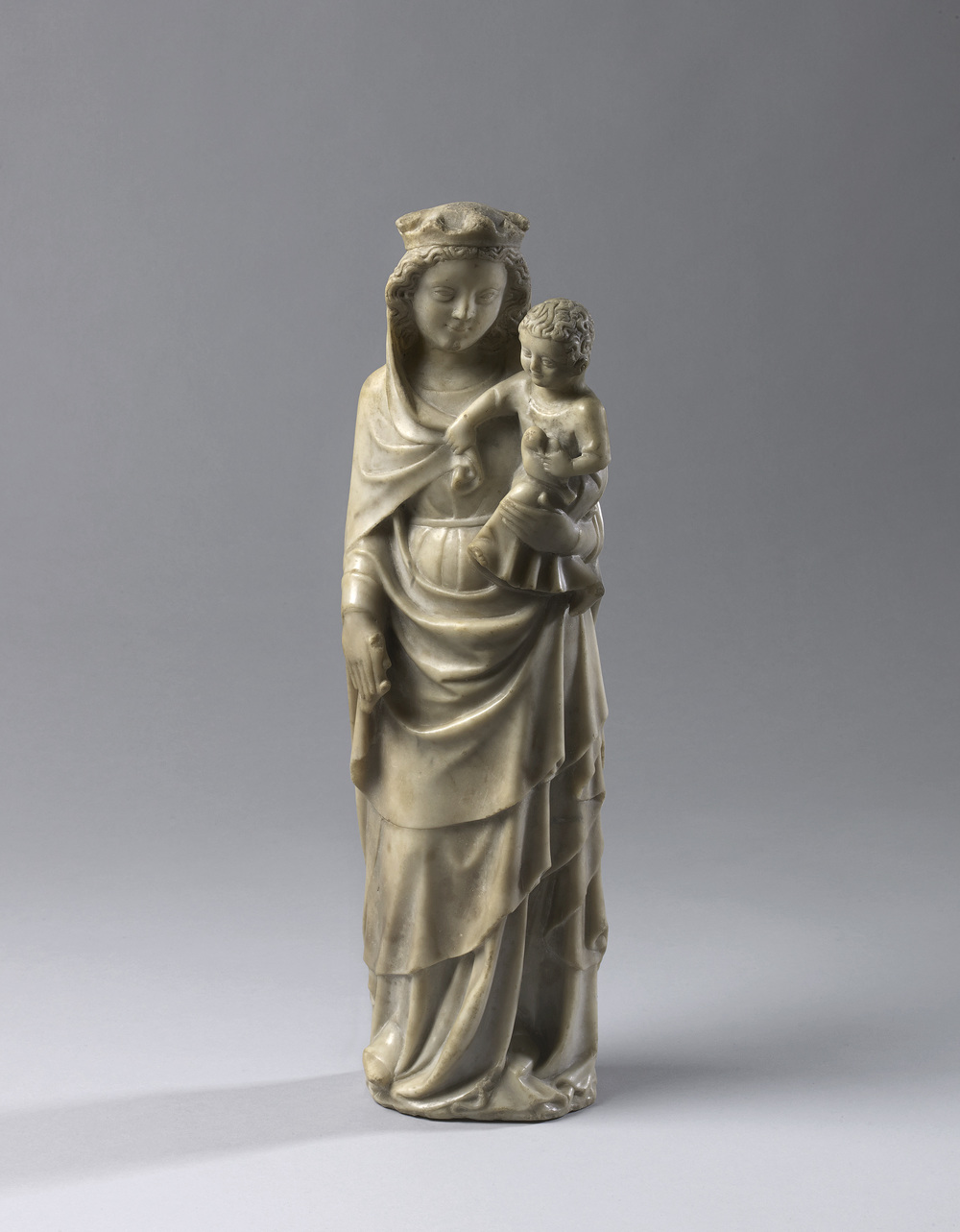 Standing Virgin and Child     France, Paris environs      c.    1330-1340    Height 45.5 cm, alabaster     4. (1074)