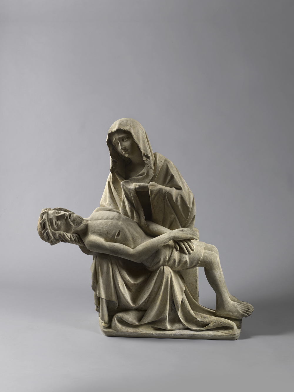 Pietà     Southern Bohemia or Upper Austria     c.    1420    Height 82 cm, limestone with traces of polychromy    6. (1075)