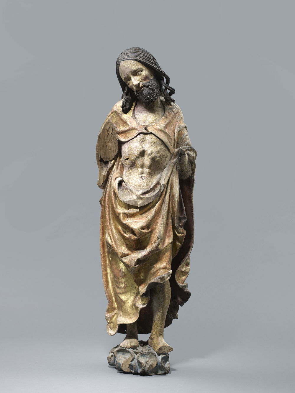 The Risen Christ Lower Bavaria or Austria First quarter 16th century Height 120 cm, limewood with some original polychromy and gilding