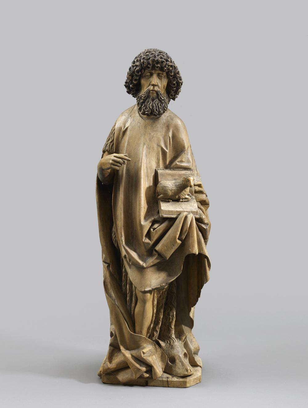 S  aint John the Baptist   Jörg Stein ( fl.  1453-1491)  Ulm, Baden-Würtemberg   c.  1480-1485  Height 92cm, limewood