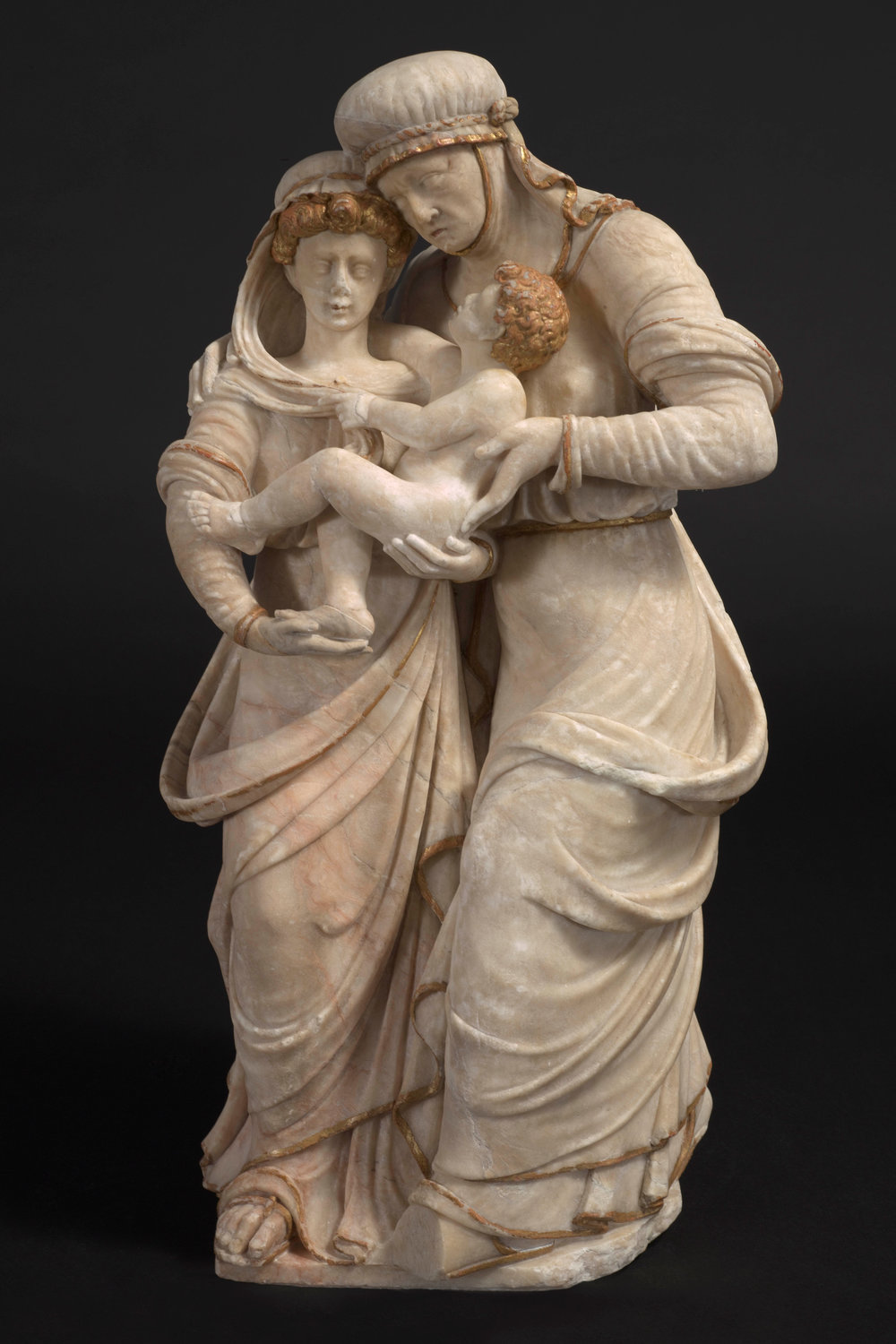 Virgin and Child with Saint Anne Workshop of Diego de Siloé (c. 1495 – 1563) and Felipe Vigarny (c. 1475 – 10 Nov 1542) Spain, Burgos c. 1520-25 Provenance: Private Collection, Spain 59 x 29 x 20 cm, alabaster with traces of gilding   (1153)