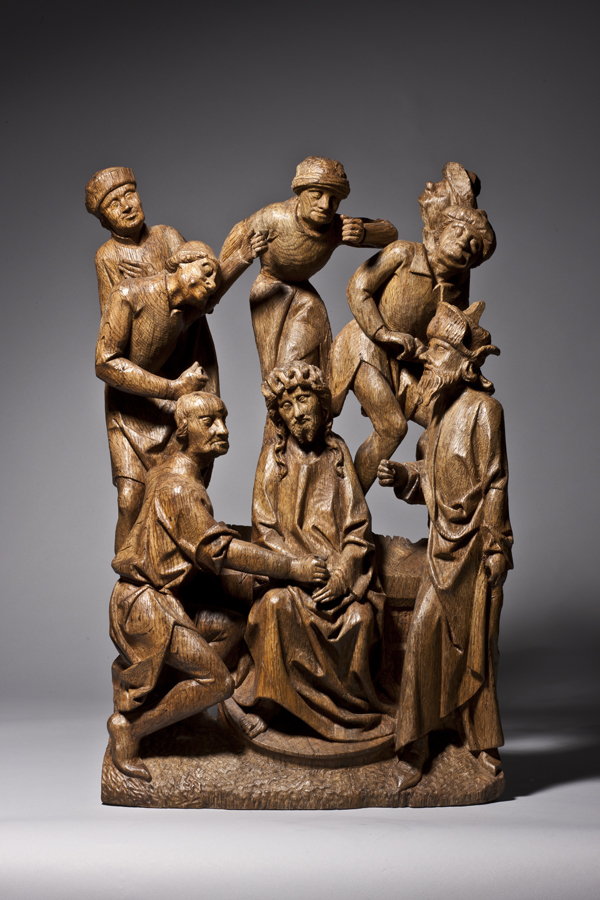 The Crowning with Thorns Netherlands, Brabant Late 15th century Provenance: Private collection, The Hague, Netherlands 67 x 41 x 16 cm; oak,   (1114)
