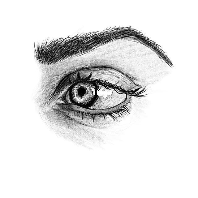A quick pencil sketch from lunch yesterday. I am always amazed at how pretty eyes are, especially when they belong to a crazy little girl trying to wake you up early on a Saturday morning.  #drawing #sketchbook #sketch #pencil #eye #eyes #eyedrawing #illustration #artist #highlights #onfleek #sexyeyebrows