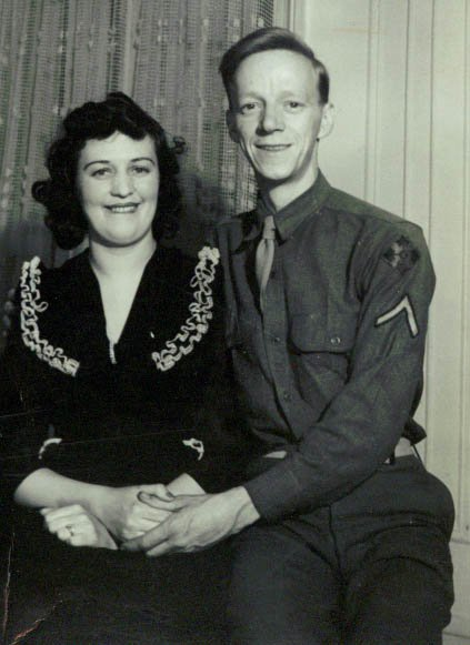 My grandparents, Ruth and Willie. Not to be forgotten, my grandmother too made sacrifices living in uncertainty and wait while her husband fought overseas.