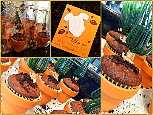 Again, Pinterest showed me the way with these Mandrake Cupcakes I put in mini pots from Michael's. I decided to take it a step further and purchased a Seeded Card from  Botanical Paperworks  and put the cupcake and card (which when planted grows wildflowers!) together in a clear bag. Voila! Favors!