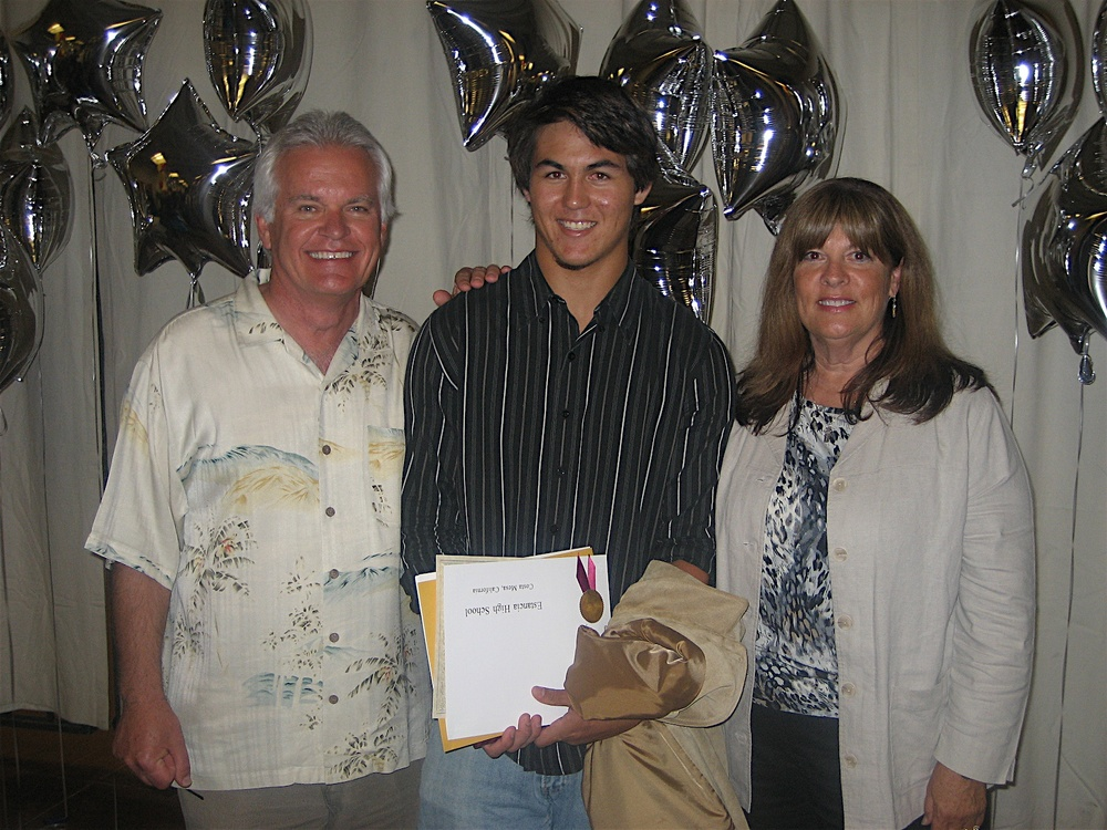"Matt Redding [2007]    Brian ""Bubba"" Kapko Memorial Scholarship   Estancia High School Scholarship Awards, $1,000 College Scholarship"