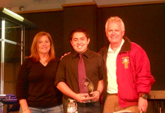 "Eduardo Lopez [2010]   Brian ""Bubba"" Kapko Football Scholarship  EHS Varsity Football Team Awards"