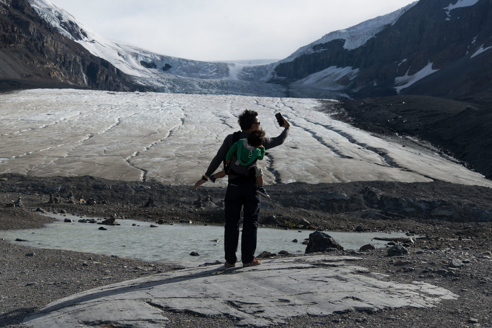 For the past 125 years, the Athabasca Glacier, the most-visited glacier in North America, has been shrinking to half of its volume and retreating for more than 1.5 km. The glacier retreats at an average rate of 5 to 6 meters every year.
