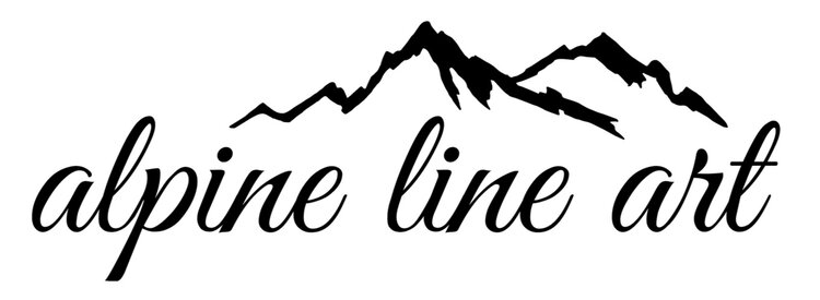 Alpine Line Art