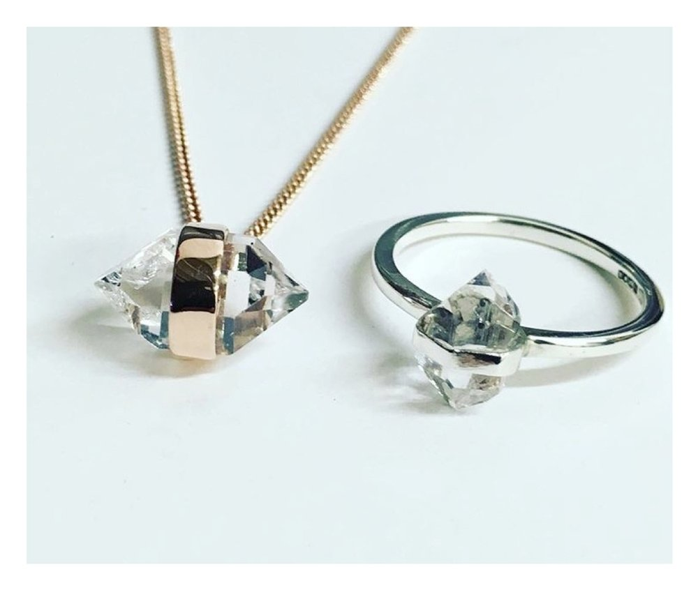 HERKIMER DIAMONDS  - Rarer than diamonds and hand picked in Herkimer, New York State, for their sparkling beauty, clarity and vibrant energy...